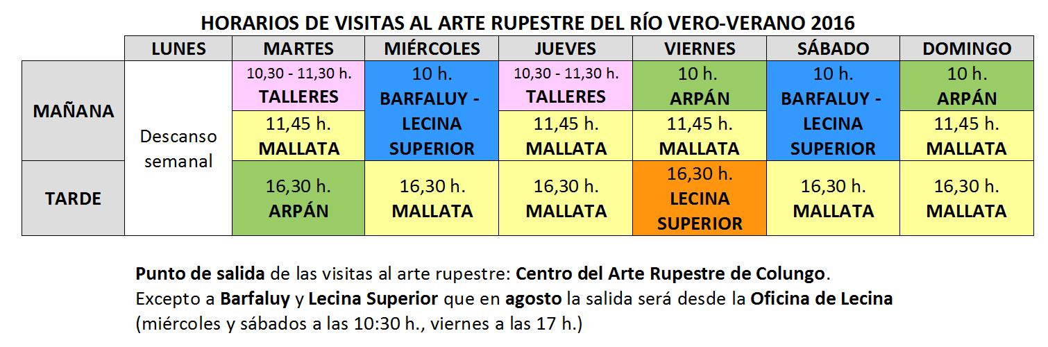 Parque cultural r o vero contin an las visitas al arte for Horario oficinas caja rural
